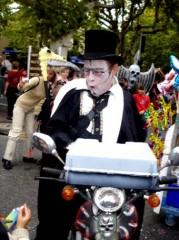 Fête halloween vampire magicien vélo