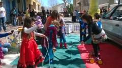 Ecole cirque en extérieur pour le carnaval