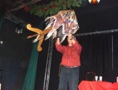 La table volante magicien en action